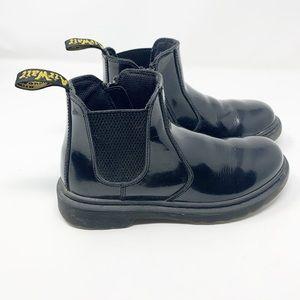 Dr marten banzai black patent leather Chelsea boot